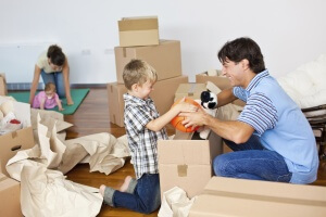 Family packing ready to choose storage size